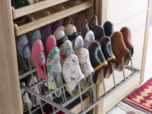20 ideas creativas para ordenar tus zapatos mejor con salud - Organizador de zapatos ...