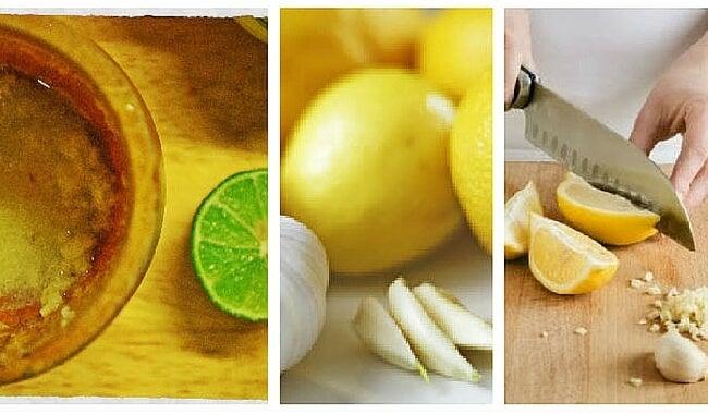 Remedio casero con ajo y limón para combatir la grasa abdominal