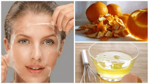 Tratamiento de clara de huevo y cáscara de naranja para tonificar la piel