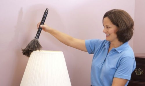 limpiar la lámpara