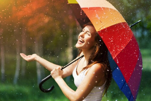 Para días nublados, paraguas de colores