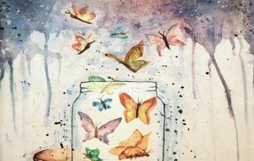 tarro-de-mariposas representando aquello que esperamos