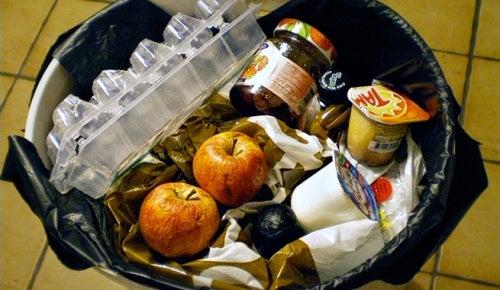 Tirar comida en mal estado