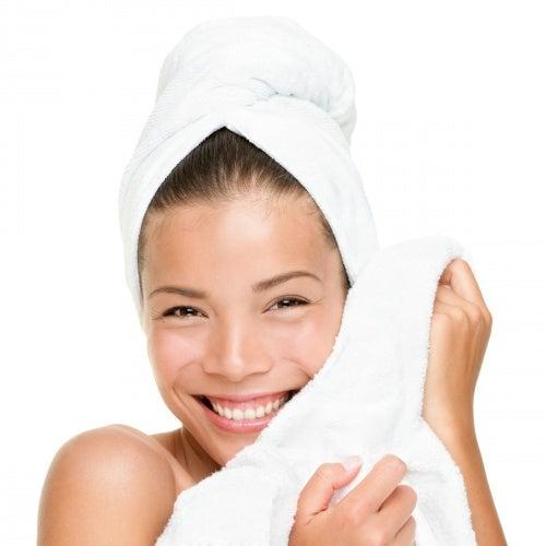 Placer de secarse con toallas suaves