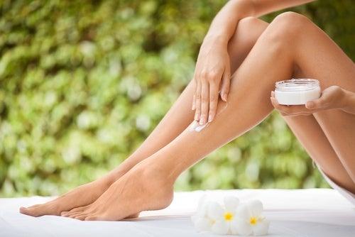 Crema natural para las piernas
