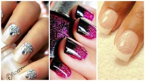 Uñas de purpurina: tres opciones que te encantarán