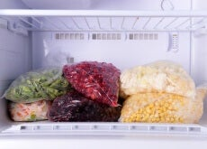 alimentos en el congelador