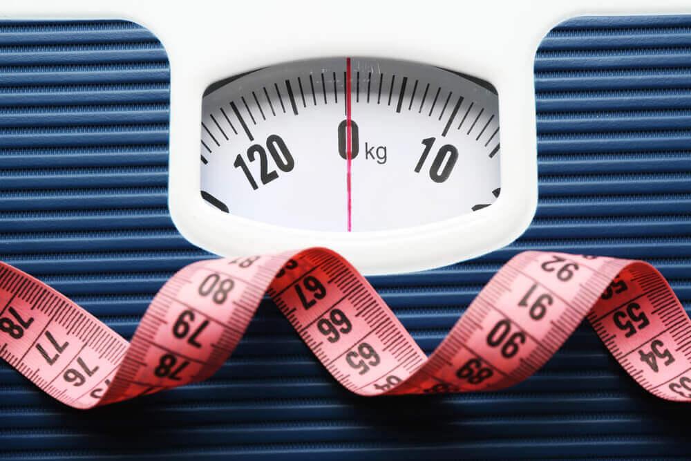 Balanza para determina peso de grasa y músculo.