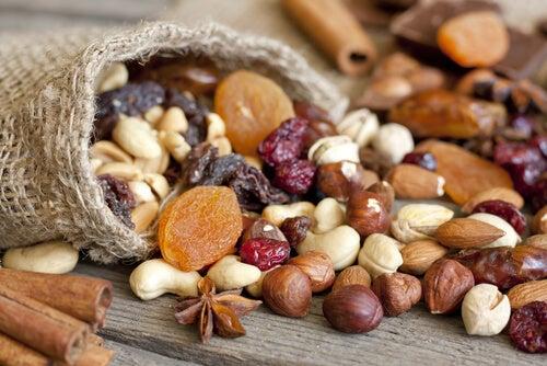 Frutos secos fuente de proteínas.