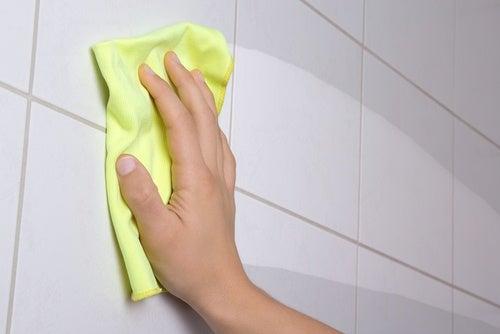 Se recomienda desinfectar todos los días los azulejos del baño