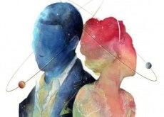 Siluetas de hombre y mujer