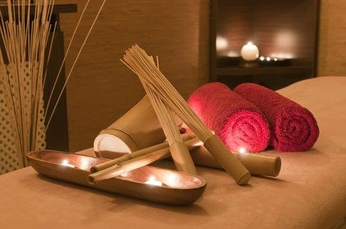 preparar el masaje