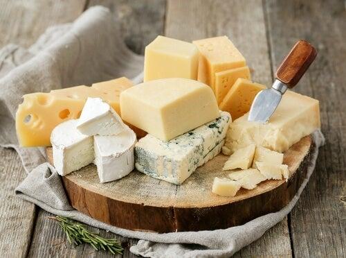 Variedad de quesos, listeriosis