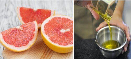Remedio de aceite de oliva y toronja para limpiar el hígado