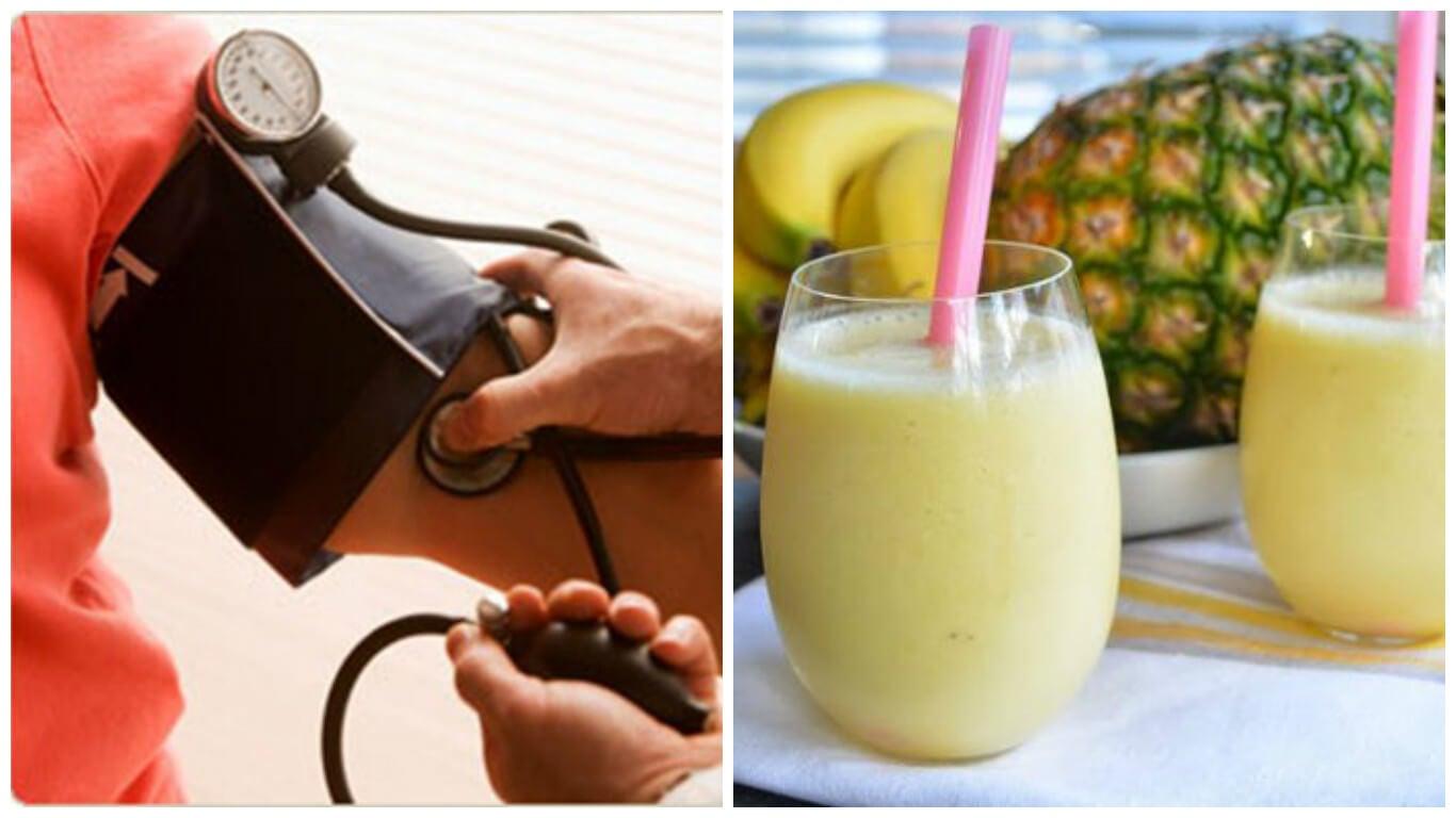 Delicioso batido matinal para controlar la presión arterial alta