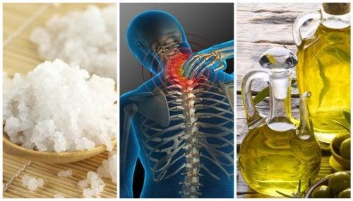 Sales de Epsom y aceite de oliva, una combinación natural para aliviar el dolor de cabeza y cuello