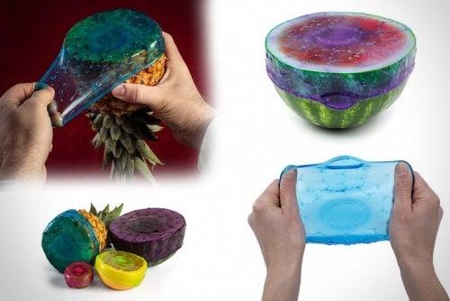 Sellador elástico para frutas y comestibles