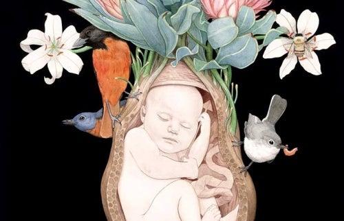 bebé-en-el-utero-representando el amor de las madres