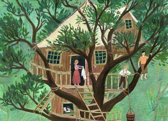 Cómo construir una casa árbol para los niños