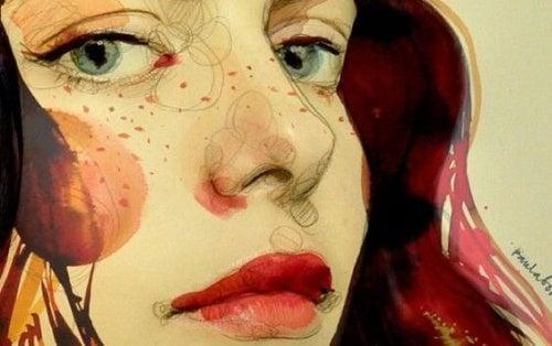 ilustración-mujer feliz por no estar ofendido
