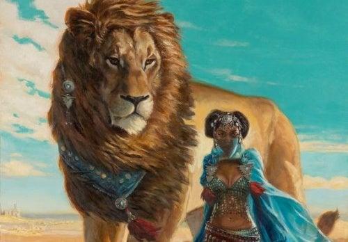leon-con-mujer esfuerzo