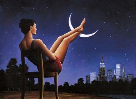 mujer con pies en la luna, hábitos saludables