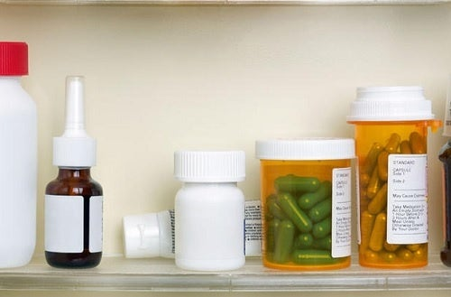 pastillas en el baño
