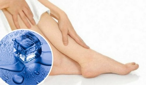 Alivia la pesadez de piernas con un cubito de hielo