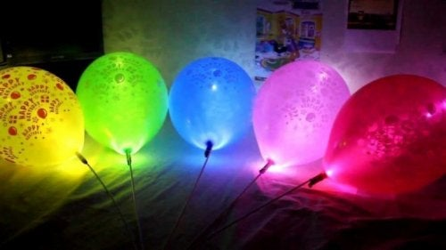 los globos son un elemento de material flexible relleno de aire o helio a menudo utilizado como parte de la decoracin para cumpleaos y otras