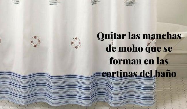 Cómo quitar las manchas de moho que se forman en las cortinas del baño