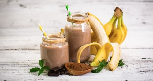 Batido de plátano y cacao