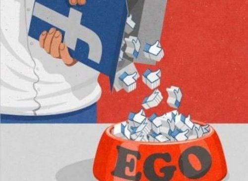 cereales de ego facebook simbolizando el impacto de las redes sociales