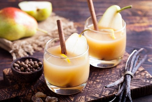 Pear juice.