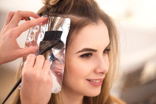 papel de aluminio para el pelo
