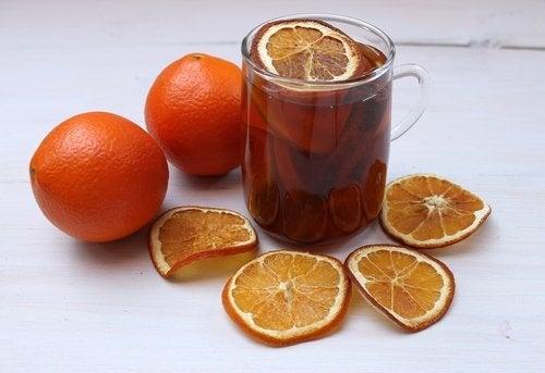 infusión de naranja