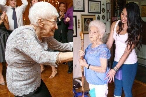 Una mujer de 87 años cambió su postura y su vida gracias al yoga