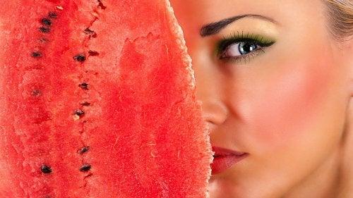 Watermelon grind as a facial cleanser