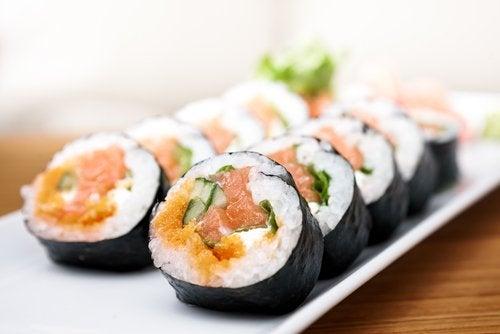 Alimentos antienvejecimiento: el sushi