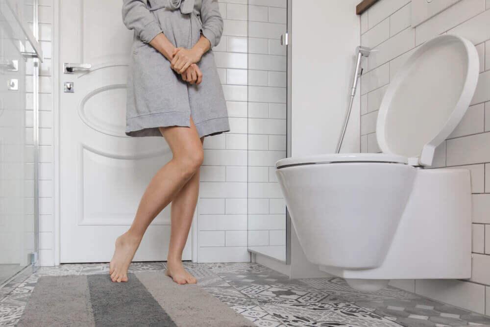 Mujer con incontinencia