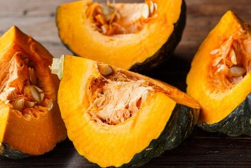Frutas y verduras de otoño: calabaza