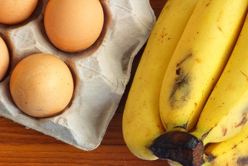 ingredients to make banana crepes