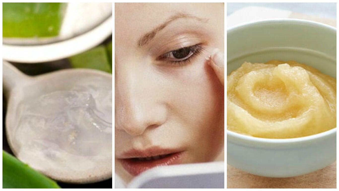 Mascarilla casera de manzana, uvas y aloe vera para atenuar las arrugas