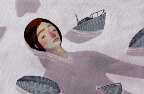 Mujer-en-el-agua-teniendo-un-dia-gris