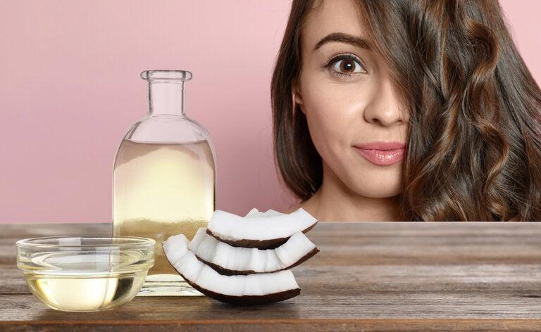 Evita la caída del cabello y las canas con aceite de coco