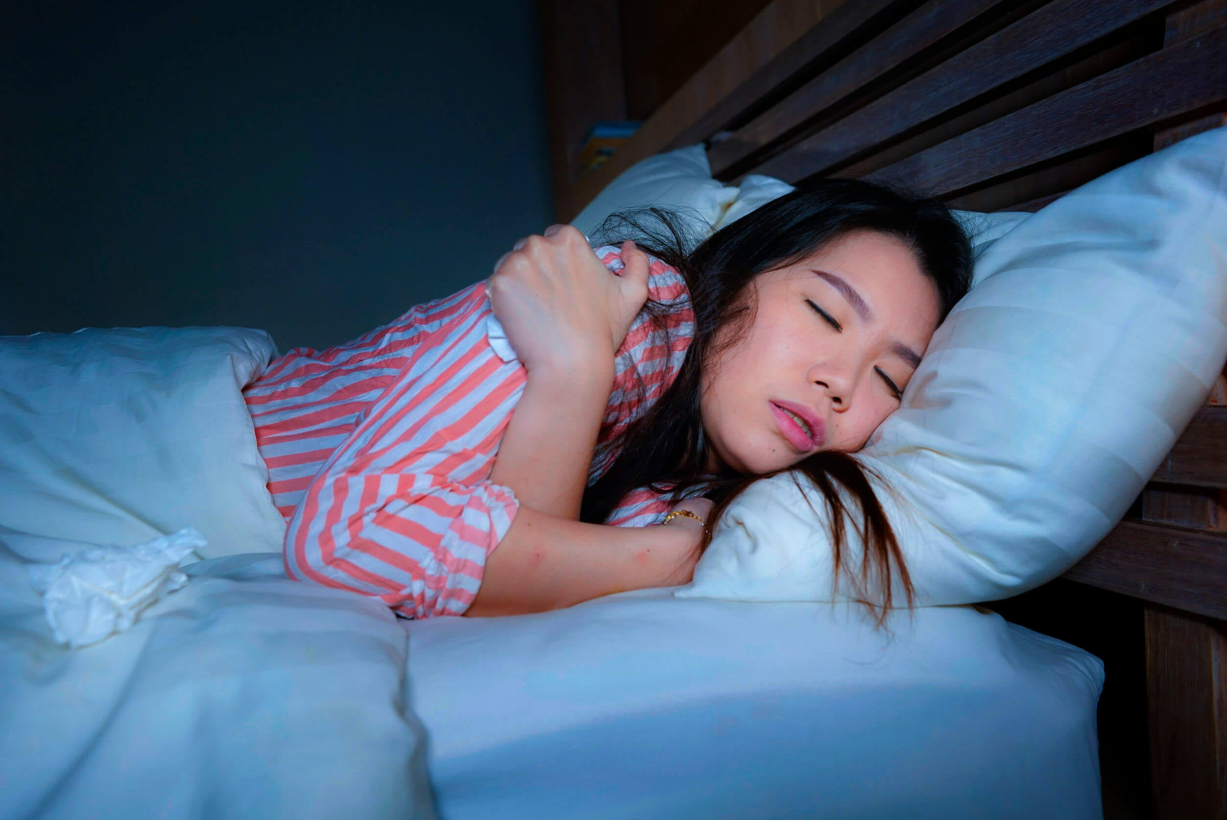 Mala posición al dormir.