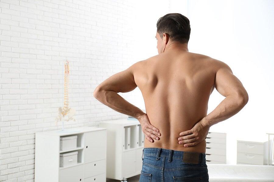 Paciente sin dolor de espalda