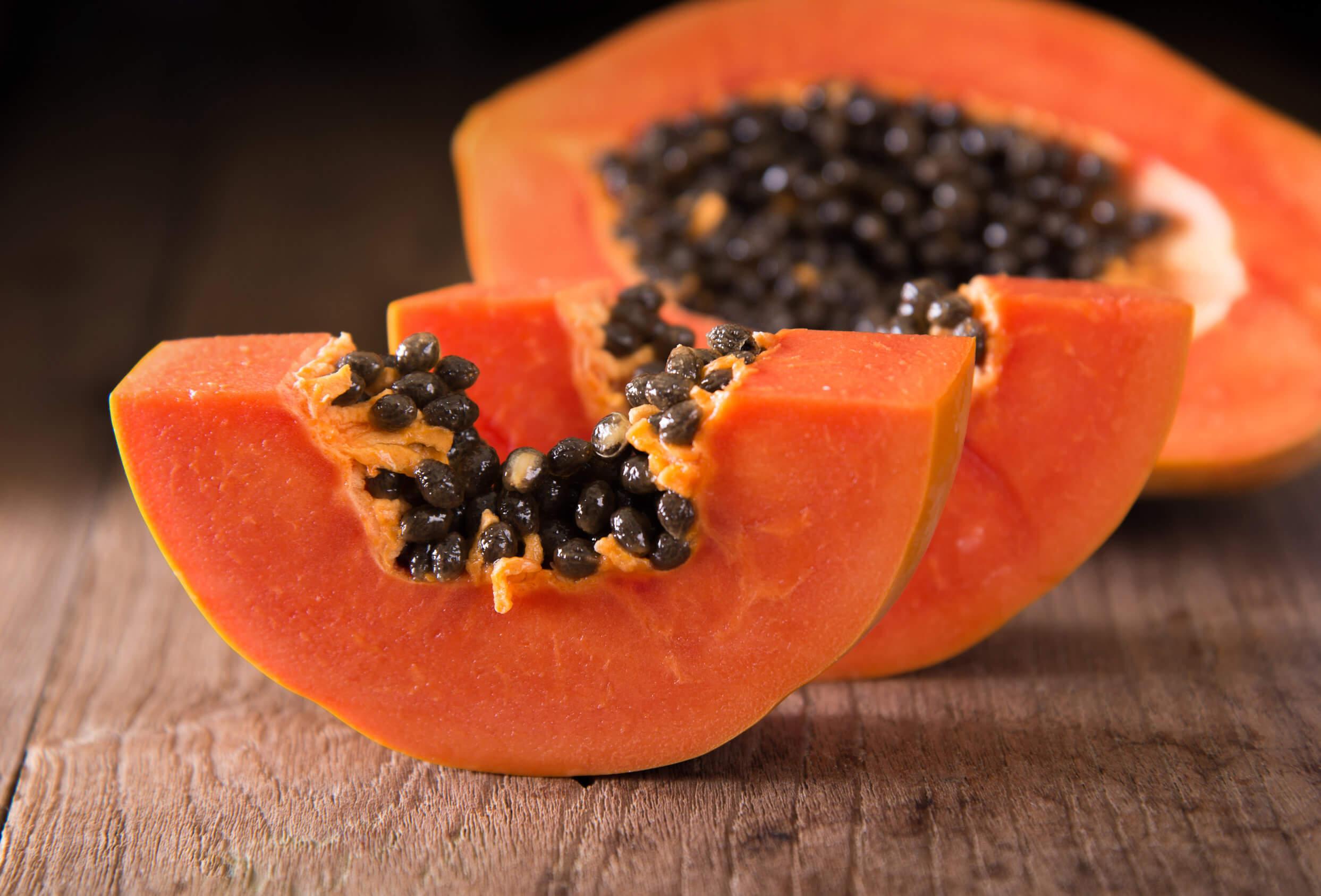 Semillas de la papaya.
