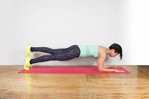 plank con levantamiento de pierna