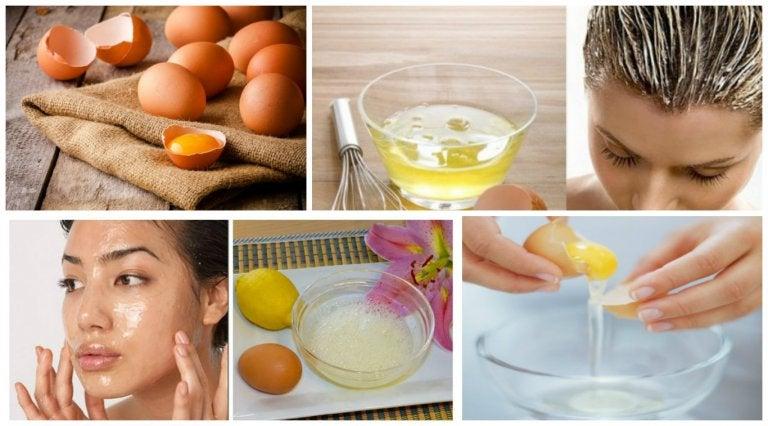 5 usos cosméticos del huevo para la piel y el cabello