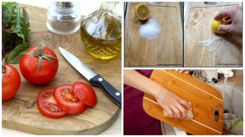 6 métodos efectivos para lavar y desinfectar la tabla de cortar